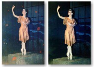 restaurare foto cu balerina