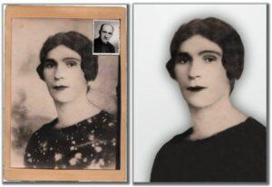 foto vechi tablou restaurat