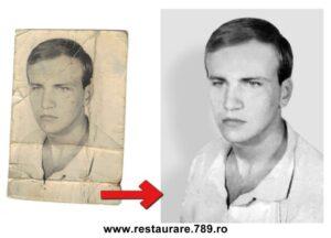 reconditionare fotografie veche legitimatie