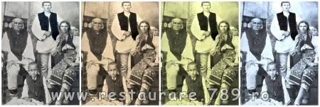 fotografii vechi restaurate si virate diferite nuante color